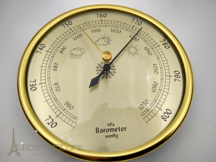 New 1pcs quality precision aneroid barometer 128mm for Barometer and fishing