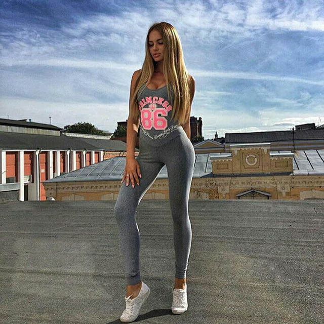 216a2f14bb4 Online Shop Hot Sexy Girls Backless Playsuit Fitness Tights Jumpsuits  Costume Yoga Sport Suit Gym Tracksuit For Women One Piece Bodysuit