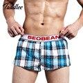 Taddlee marca mens underwear boxer shorts algodón troncos de los hombres 2017 nuevo moda Homewear Gay Mens Hombre hombre nuevo Shorts Hombre Bolsa