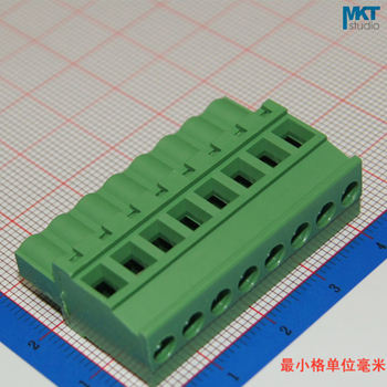 100Pcs 8P 5.08mm Pitch B-Type Straight Female PCB Electrical Screw Wire Terminal Block Connector