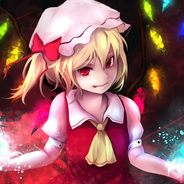 look girl magic wings the demon flandre scarlet gracehoo JZK518 ...