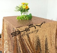 Free Shipping 50 50 Rose Gold Sequin Table Cloth Shiny Rose Gold Table Linens For New