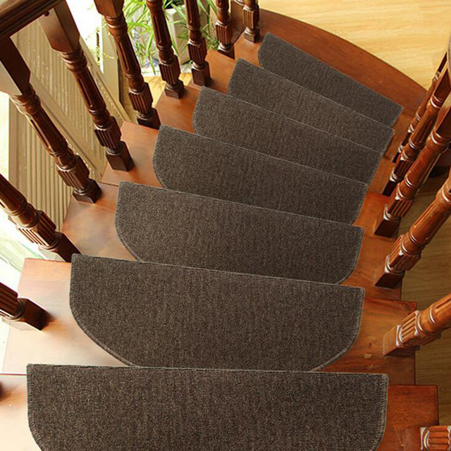 carpet stair treads. 1x modern household wearable carpet stair tread door mats non-slip step rugs pvc right treads