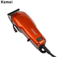Kemei 220 240V Household Trimmer Professional Classic Haircut Corded Clipper for Men Cutting Machine with 4 Attachment Combs 40