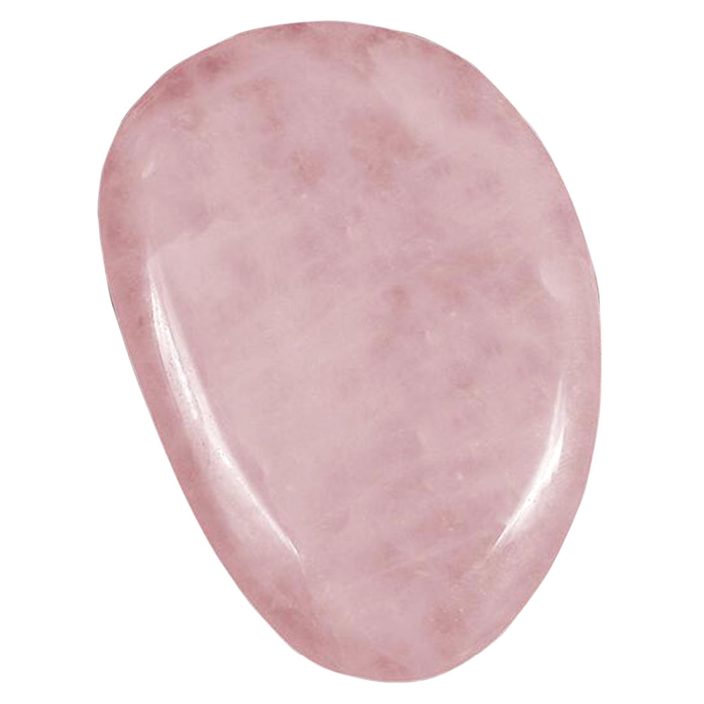 Feng Shui Thumb Worry Stone Water Drop Natural Rose Quartz Chakra Reiki Healing Crystals W3438