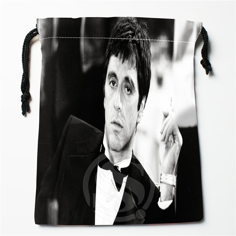 J w26 New Al Pacino Custom Printed receive Bag Compression Type drawstring bags size 18X22cm W725