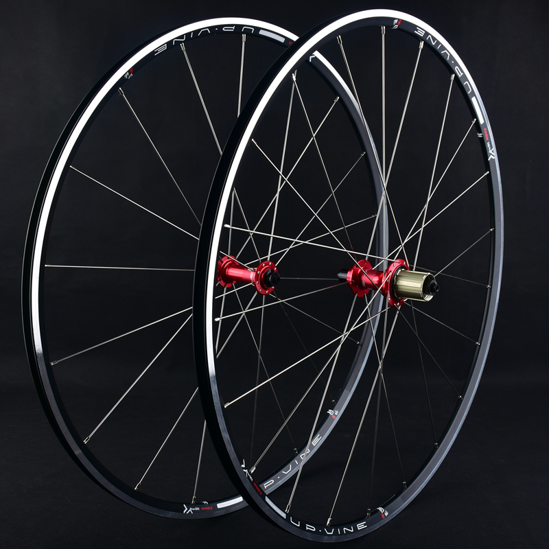 Road Bike Wheel Set 700C Ultra-light Round Group 120 Ring Sapim Spokes Sun Car Rim Broken Wind Wheel Group Cycling Parts 1set front and rear 700c road bike wheel bicycle magnesium alloy three spokes parts integrated wheel fixed gear single speed