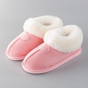 Image 5 - PIETRA VILLAGGIO Nuove pantofole di cotone donne di spessore inverno più velluto scarpe di cotone di inverno delle donne calde pantofole di peluche