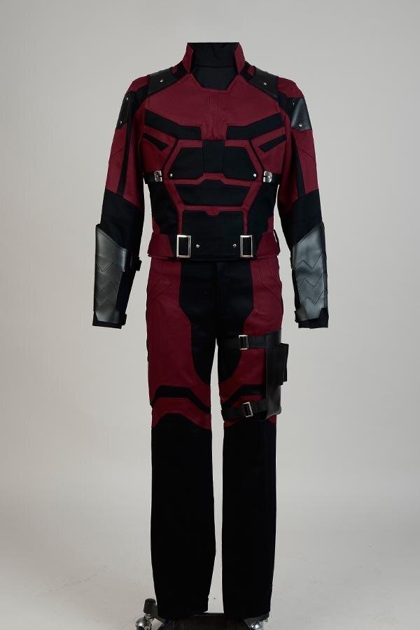 Daredevil Matt Murdock Cosplay Costume Superhero Outfit Adult Halloween Tailored
