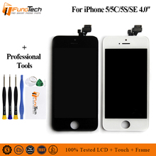 AAA ESR Highlight All View For iPhone 5G 5C 5S LCD Screen Digitizer Assembly Pantalla For iPhone 5C 5S Ecran Display grade aaa for iphone 5c 5s 5g lcd dispaly assembly screen replacement with camera holder alibaba china highscreen