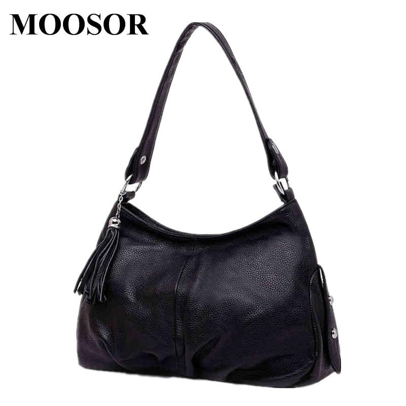 Фотография 2018 New Genuine Leather Women Bags Crossbody Bags High Quality 6 Colors Fashion Female Shoulder Bags Zipper Handbags HB14
