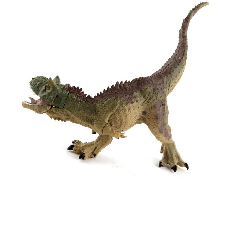 Simulated Carnotaurus Model Dinosaur Toy Set Wild Static Animal Action Figurine