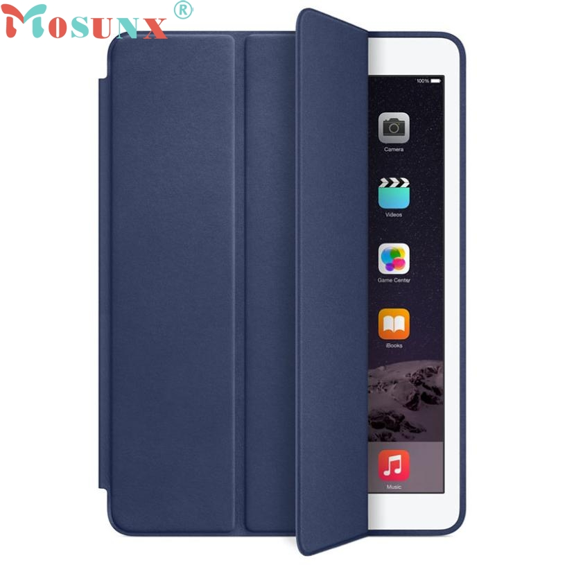 Top Quality Design For iPad Air 2 Genuine Leather Smart Case Cover Slim Wake Protector APR