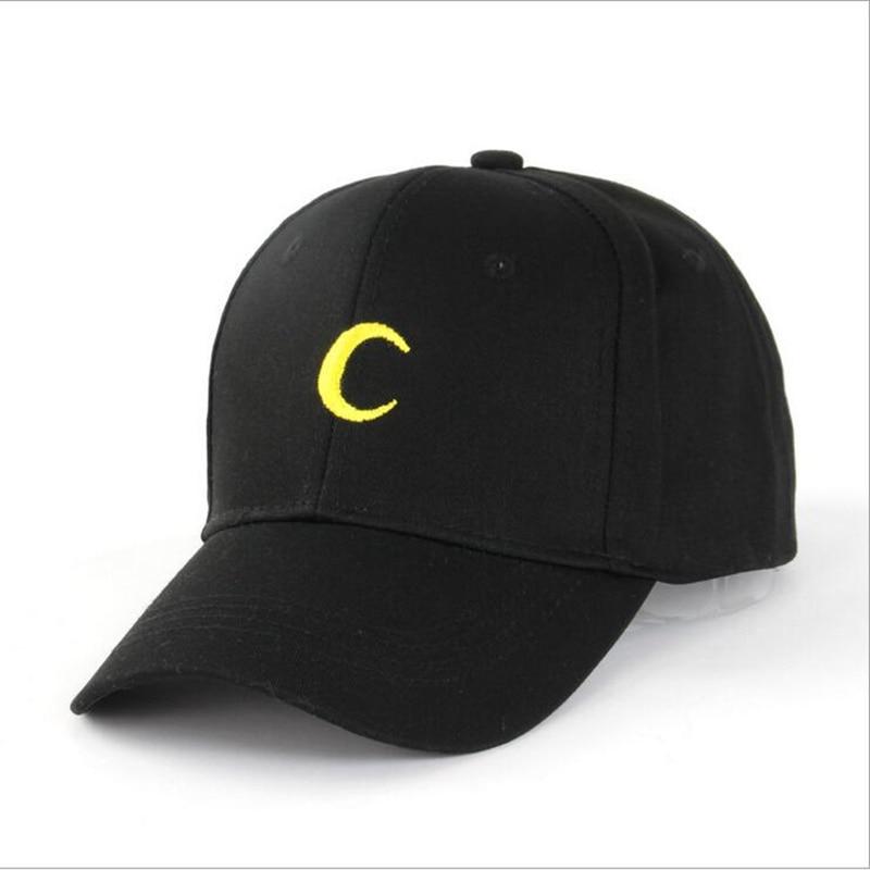 Hot Sale Embroidery Cotton   Baseball     Cap   Moon Printing Boys Girls Snapback Hip Hop Flat Hat Adjustable Snapback Flat Exercise Hat