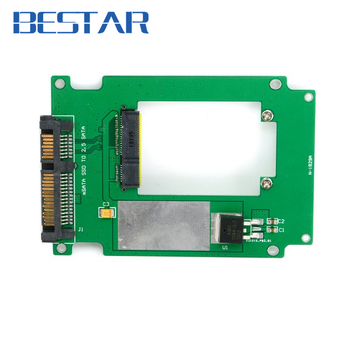 50mm mini PCI-E pcie pci express pci-express ssd mSATA SSD to 2.5 SATA 22pin Hard Disk HDD Converter Adapter PCBA