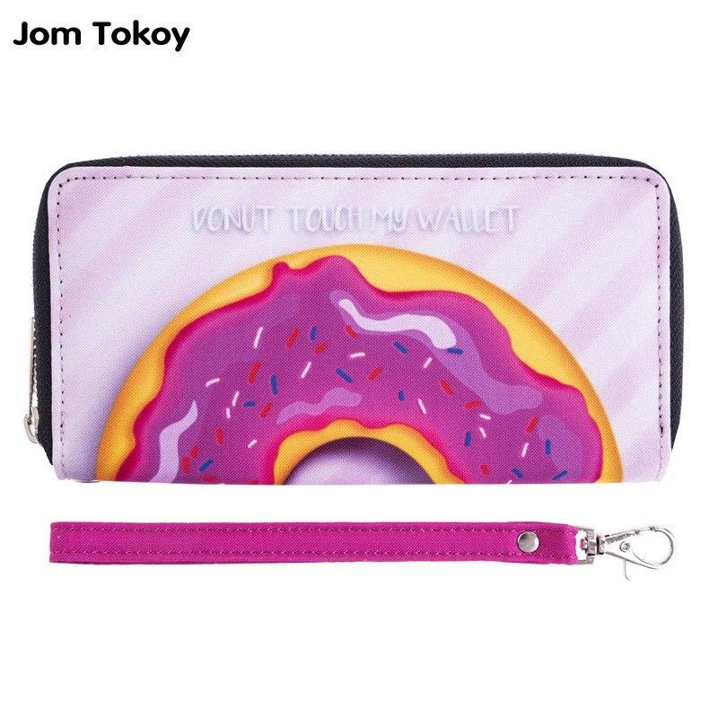 Bonbons couleurs impression 3D fille portefeuille Zipper embrayages - Portefeuilles et porte-monnaie
