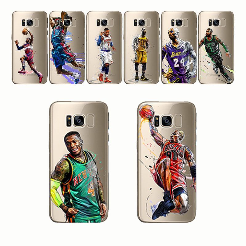 59c4d29566f7 soft silicone phone case basketball Lebron james harden Stephen Curry Kobe  for Samsung Galaxy Note 4