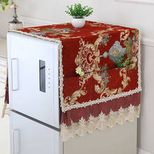 Fyjafon Refrigerator Covers Chenille Jacquard weave Dust Cover Home Decor Dustproof Covers With Storage Bag 55*135/70*170(China)