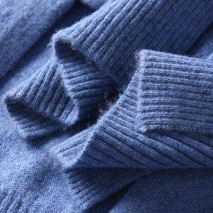 Image 4 - 2018 kobiet Cardigans 100% czystego kaszmiru swetry dziergane gorąca sprzedaż Vneck długi koreański styl topy kobieta standardowe topy dziewczyna swetry