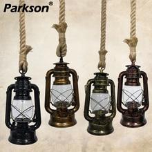Vintage Kerosene Pendant Lights E27 Retro Hemp Rope Hanging Lamp Industrial Loft For Decoracion Bar Dinning room Pendant Lamp