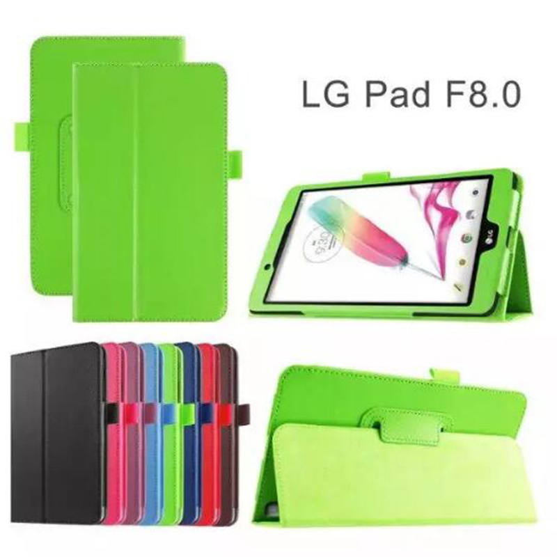 ocube Luxury Folio Stand Protective Cover Litchi Grain PU Leather Case Cover For LG GPad G