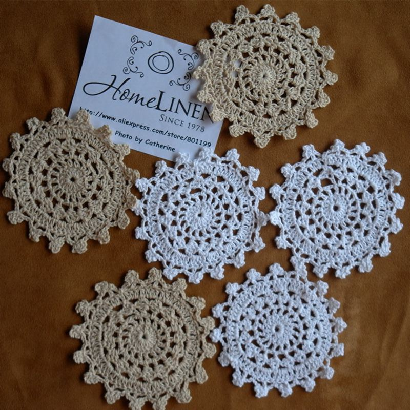 Vintage Handmade Crochet Lace Doily Coaster Year Of Clean Water