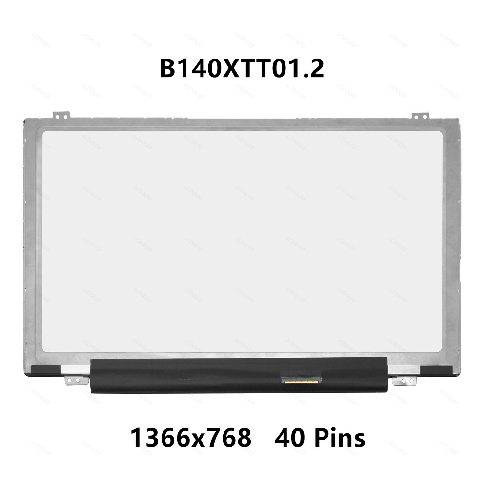 LCD Screen Display Panel with Touch Digitizer B140XTT01.2 For Dell Inspiron 14 3442 3443 3437  5439 5447 5448 5468 1366 x 768