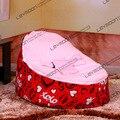 Tampa do saco de feijão bebê com 2 pcs rosa para cima da tampa do saco de feijão do bebê sofá preguiçoso cadeira do saco de feijão móveis LIVRE GRÁTIS