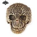 Vintage Skull Thumb skeleton Rings for  Men stainless Steel Punk Designer Jewelry Fashion Circle