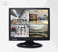 14.1 inch BNC four screen security LCD monitor comes with DVR quad split screen industrial instrument ditrial instrument display