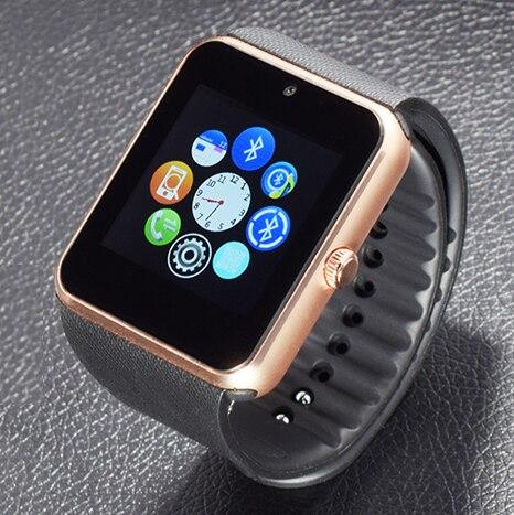 imágenes para Langtek bluetooth smart watch z60 2g internet wearable dispositivos nfc sim soporte de tarjeta tf smartwatch para apple teléfono android gt08