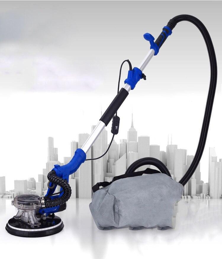 Handheld 220 V Nenhuma poeira Metope ferramenta lixa de moagem máquina Elétrica máquina de Massa de Vidraceiro Parede máquina de polimento polidor