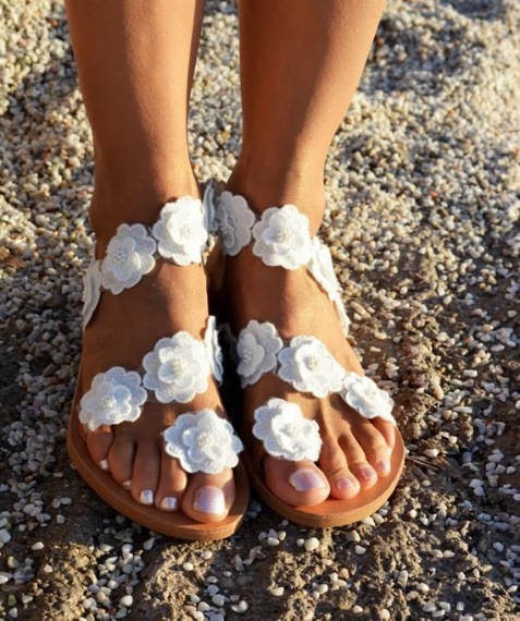 Cremulen 2019 Women Sandals Summer New Style Flowers Flat Sandal Plus Size Fashion Bohemia Shoes