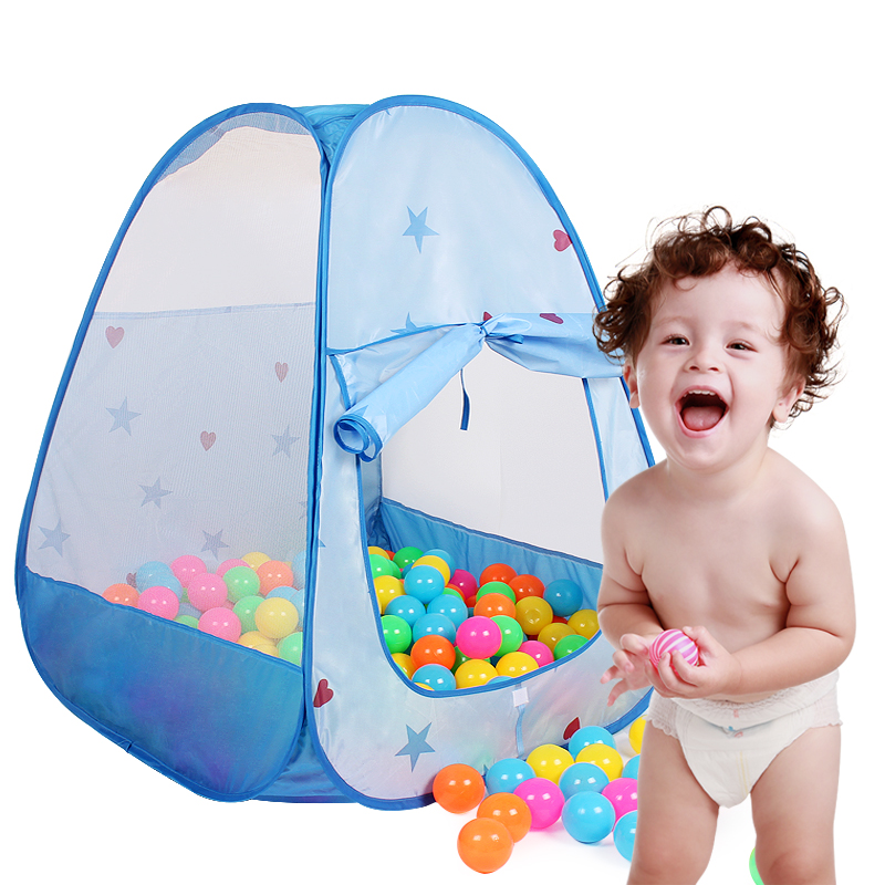 Strong-Willed Cartoon Dolphin Pattern Baby Ball Pit Foldable Washable Toy Pool Children Hexagon Ocean Game Play Tent House Baby Playing Pool Mother & Kids Swimming Pool