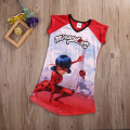Big Girls Miraculous Ladybug Dress Summer Short Sleeve Casual Beach Age 5-16Y