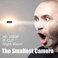 2.9X2.9X1.1 Cm Mini Camera HD 1080P IR-CUT 2 Lights Night Vision Motion Detection DVR Recording Device Loop Video Mini Camcorder