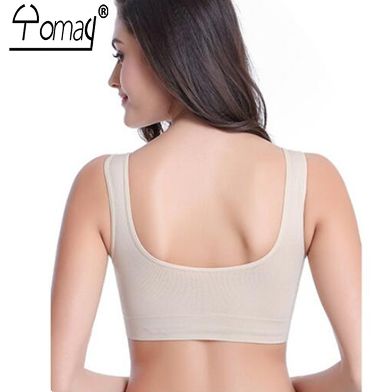 b446488d3d Yomay Sexy Women Sports Bra Seamless Sport Top Comfortable Crop Top Running  Fitness Yoga Bra Ladies Push Up Brassiere Sleep Bra-in Sports Bras from  Sports ...