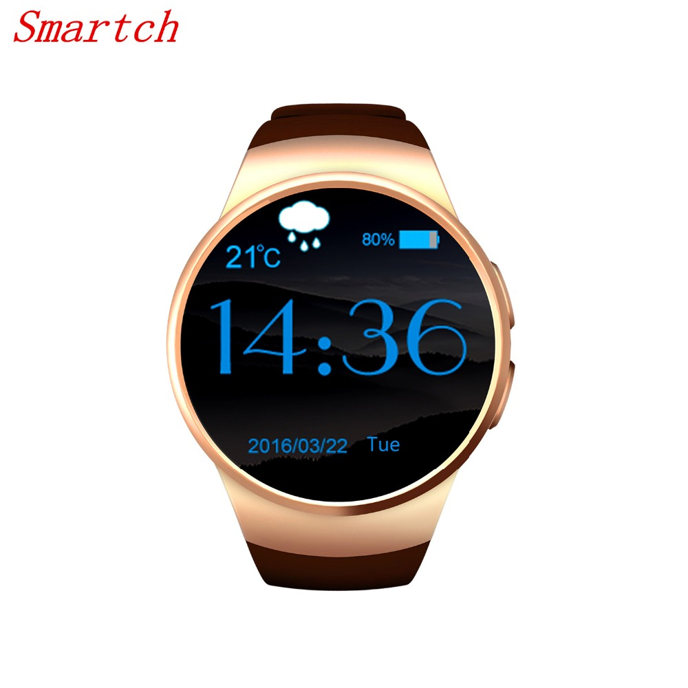 Smartch KW18 Smart Watch Android IOS Heart Rate Bluetooth NFC TF SIM Card font b Smartwatch