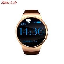 Smartch KW18 Смарт-часы Android IOS сердечного ритма Bluetooth NFC TF SIM карты SmartWatch для IOS телефона Android PK GT08 Смарт-часы