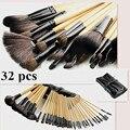 32 Pçs/set Pincéis de Maquiagem Maleta de maquiagem Jogo de Escova Escova Cosmética conjunto de pincéis para maquiagem Kit Maquiagem Ferramentas pincel maquiagem