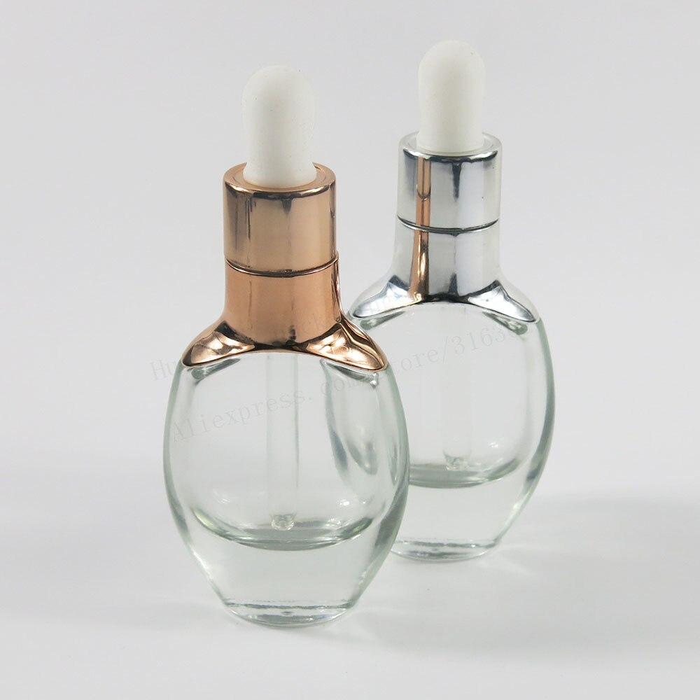 200 X Top qualité 30ml 1oz voyage clair compte-gouttes bouteille Portable aromathérapie Esstenial huile bouteille avec compte-gouttes en verre