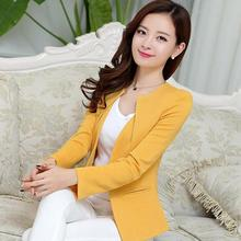 New Fashion Casual Jacket Long Sleeve Spring Women Slim Blazer Coat One Button Suit Ladies Blazers Work Wear