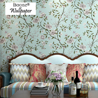 Bacaz Reminisced American Butterfly rustic 3d Flower wallpaper Rolls for walls Living Room 3d Wall paper Roll wall covering