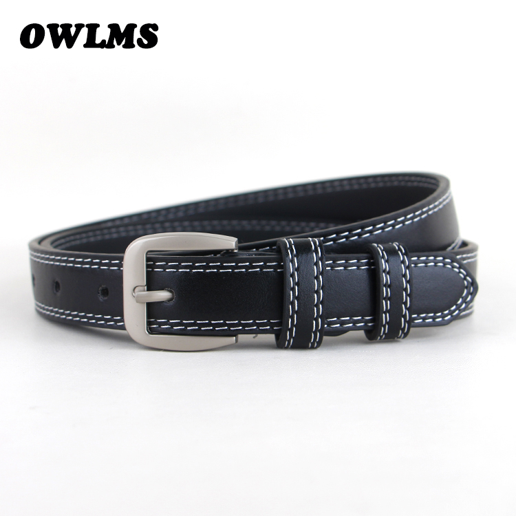 HOT Casual Belt jeans Decorative Simple strap Belts Leather Fashion brown Women Trousers Black waist blue pin buckle students