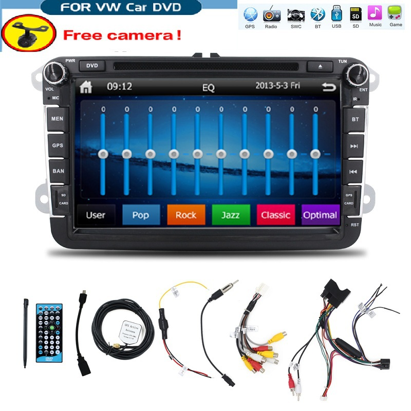 8 inch 2 din Multimedial VW Car DVD GPS Navigation audio font b camera b font