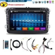 8 pulgadas 2 din Multimedial VW Del Coche DVD GPS de Navegación de audio cámara de TELEVISIÓN jugador de GOLF 6 nuevo polo Nuevo Bora JETTA PASSAT B6 SKODA Mapa