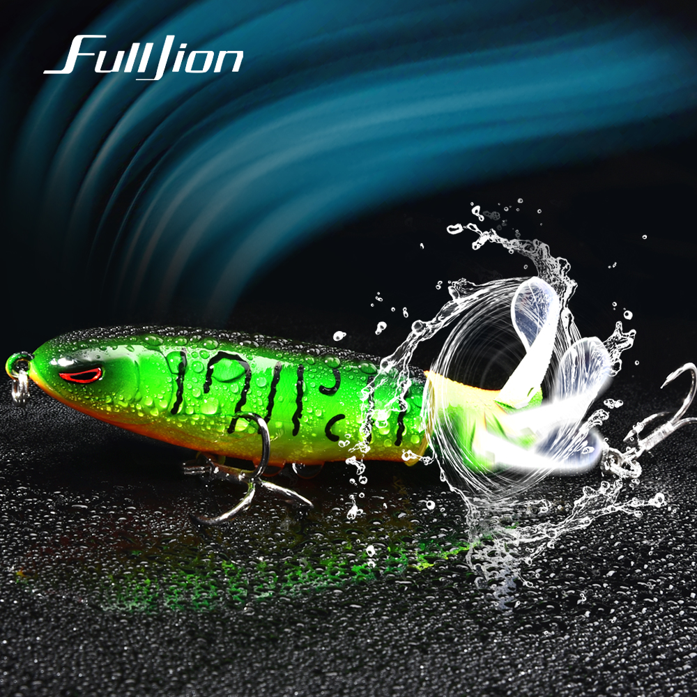 Fulljion Plopper Fishing Lures Spinners Minnow Crankbaits Wobblers Artificial Baits Topwater For Carp Fishing Pesca Isca 100mm