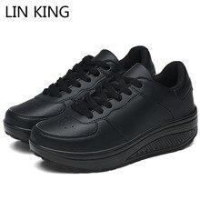 LIN KING Plus Size 43 Women Casual Height Increasing