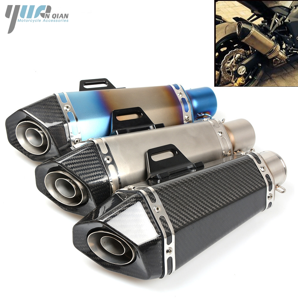 Universal Motorcycle Scooter exhaust Escape Pipe Muffler Pipe For SUZUKI GSF650 GSF650S GSF1000 GSF1200 GSF1250 Bandit GSXR 600 motoo free shipping 61mm stainless steel universal escape moto motorcycle motorcross scooter exhaust pipe muffler