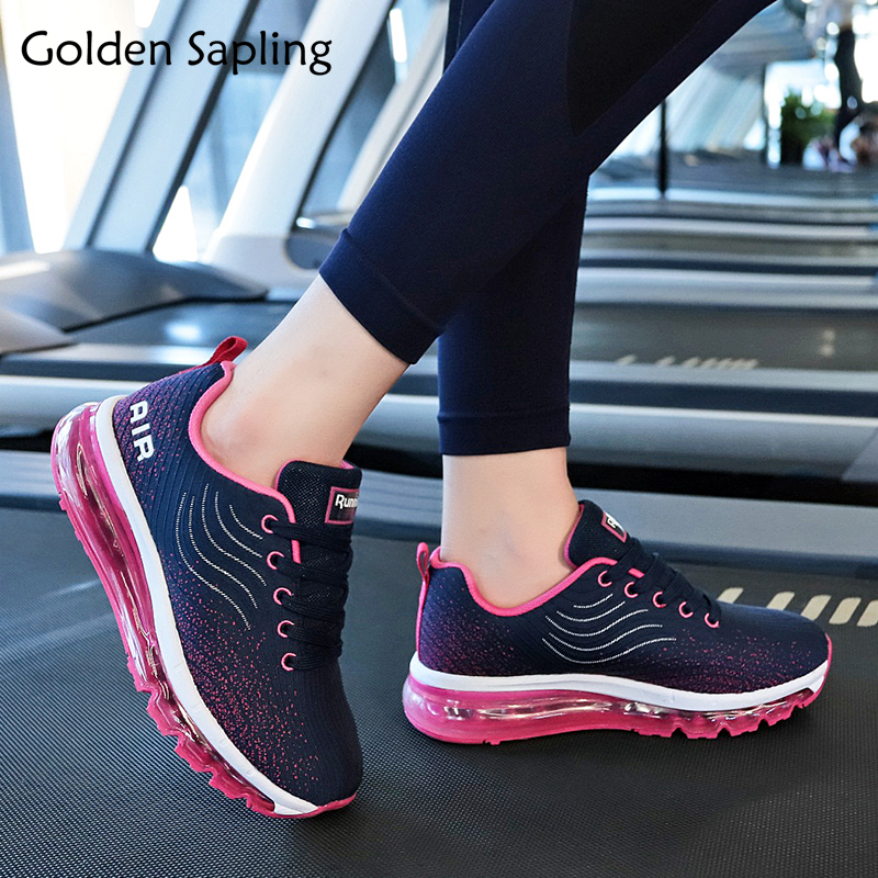 Golden Sapling Women's Running Shoes Breathable Fabric Sneakers Woman Sports Blue Air Mesh Fitness GYM Sport Shoes Women Sneaker цена